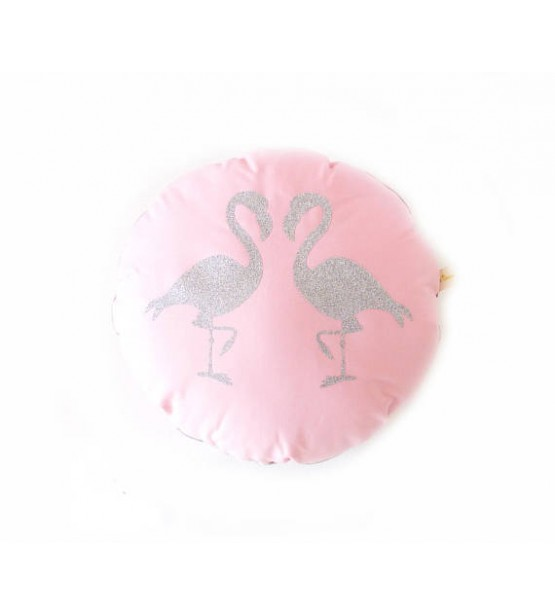 "Coussin ""Flamants Roses"""