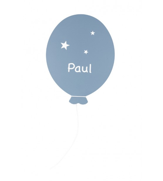 "Déco Ballon ""Bleu ardoise"" - Personnalisable"