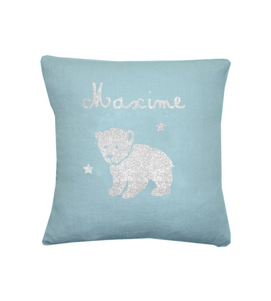 "Coussin ""Ourson"" - Personnalisable"