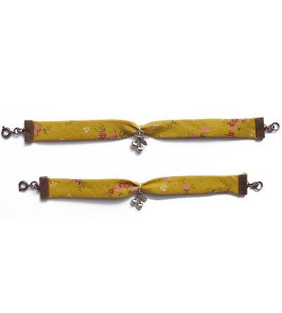 "Bracelets Mère- Fille ""Liberty Moutarde"""