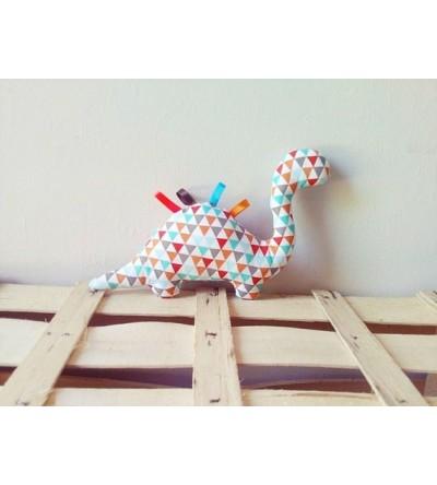 """Peluche décorative """"Dino multicolore"""""""