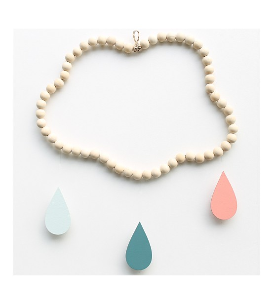 "Mobile Nuage en perles ""Nalini"""