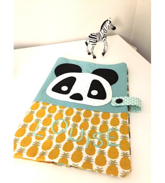 """Protège carnet de santé """"Panda"""" Personnalisable"""