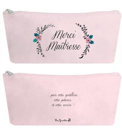 "Trousse Merci Maîtresse ""Fleurs"""