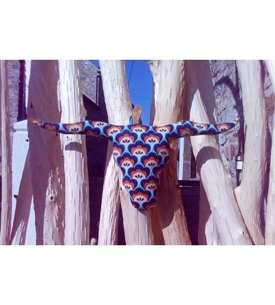 """Trophée Tête de Taureau """"Soft Cactus Blue"""""""