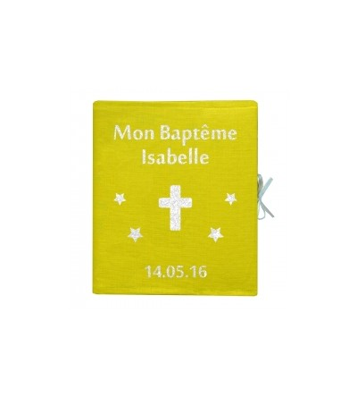 "Album Photo Baptême Personnalisable ""Jaune"""