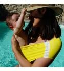 Aquabulle Jaune- Porte-bébé d'appoint aquatique