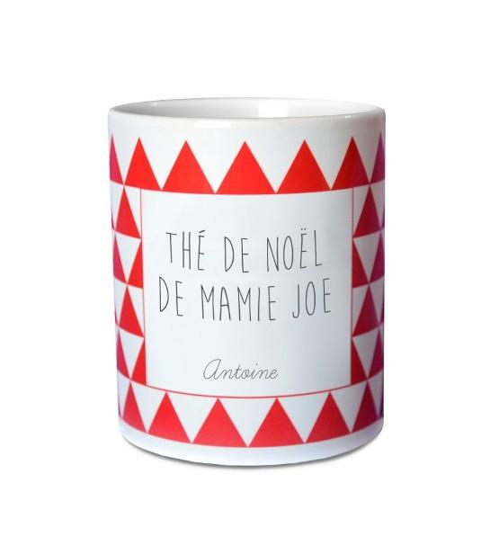 """Mug de Noël Personnalisable """"Rouge"""""""