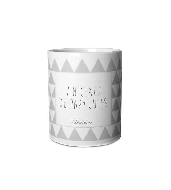 """Mug de Noël Personnalisable """"Gris"""""""