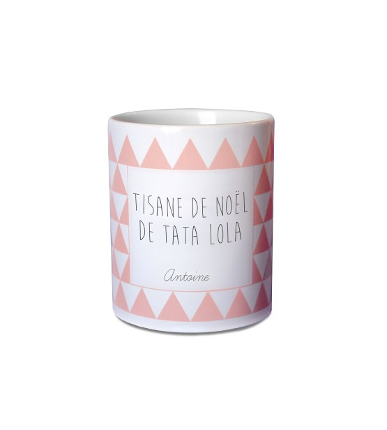 "Mug de Noël Personnalisable ""Rose"""