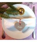 """Kit décoration de Noël """"Coeur"""" - Personnalisable"""