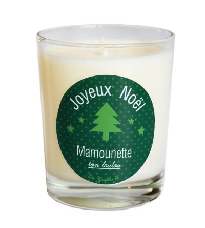 """Bougie de Noël """"Vert"""" Personnalisable"""
