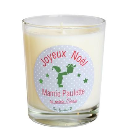 """Bougie de Noël """"Gris"""" Personnalisable"""