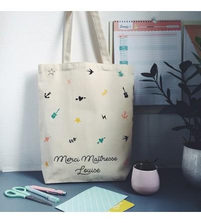 "Tote Bag ""Merci Maîtresse"" Personnalisable"