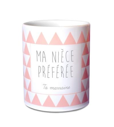 """Mug Baptême Personnalisable """"Rose"""""""