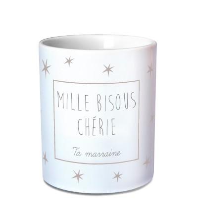 """Mug Baptême Personnalisable """"Etoiles"""""""