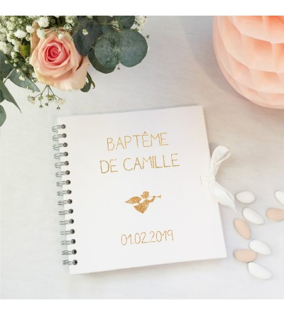 "Album - Livre d'or Baptême ""Blanc"""