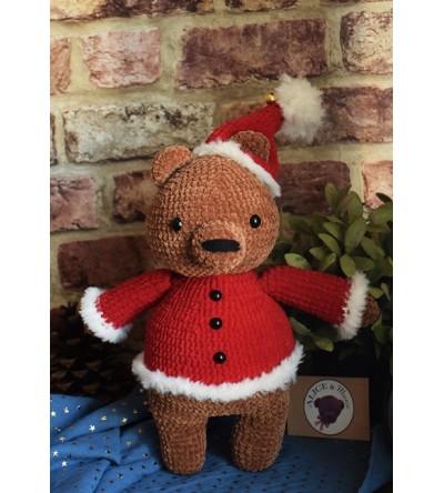 """Peluche au crochet """"Ours de Noël"""""""