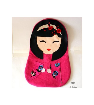 "Range pyjama / doudou ""Kokeshi so girly"""