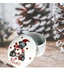 """Boîte en porcelaine """"Ourson de Noël"""" - Personnalisable"""