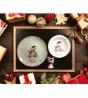 """Coffret cadeau vaisselle """"Ourson de Noël"""" (Personnalisable)"""