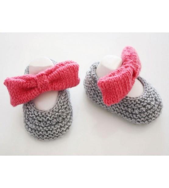 Ballerina n'a qu'à bien se tenir! - Ballerines tricotées main