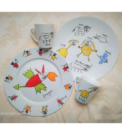 """""""Dessine-moi un..."""" - Le dessin de votre enfant sur porcelaine"""