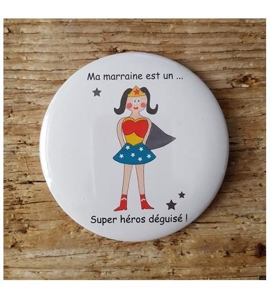 """Miroir de poche """"Parrain / Marraine"""""""