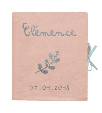 """Livre de Naissance """"Rose Poudré"""" - Personnalisable"""
