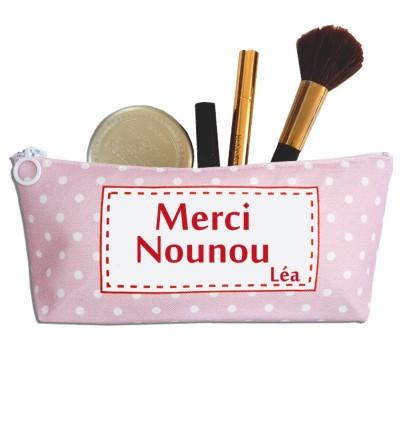 """Trousse Nounou / Maîtresse / Atsem """"Rose à pois"""" - Personnalisable"""