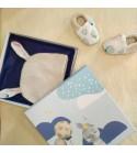 """La Baby Box 2 en 1 """"Petit Lapin"""" - Un coffret cadeau réutilisable en tableau!"""