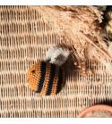 """""""Claire l'abeille"""" - Peluche / Hochet au crochet"""