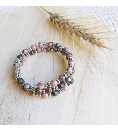 """Bracelet en Pierres """"Rhodonite"""""""