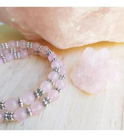"""Bracelet en Pierres """"Quartz Rose"""""""