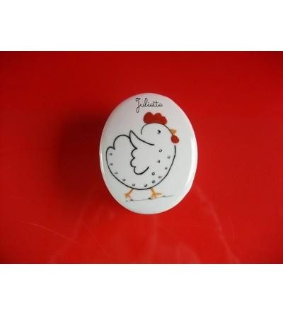 """Boîte à dents personnalisable """"Petite poule"""""""