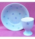"""Coffret cadeau vaisselle """"Etoiles bleues"""" (Personnalisable)"""