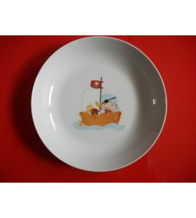 "Assiette creuse ""Pirate!"""