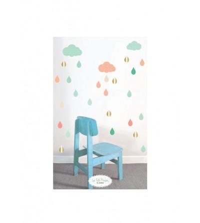 """Stickers """"Gouttes et nuages"""""""