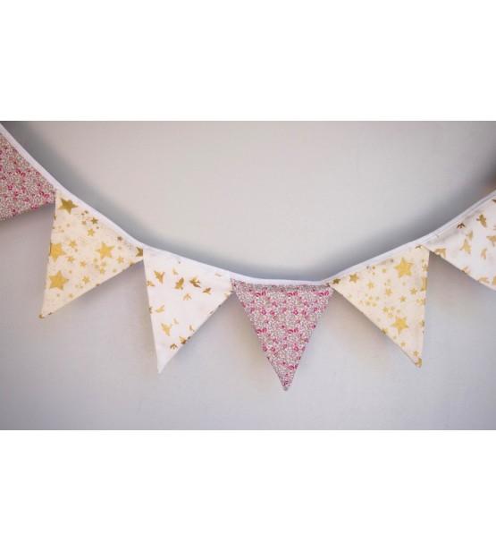 Guirlande décorative -Liberty -Cadeau bébé original -Déco chambre bébé