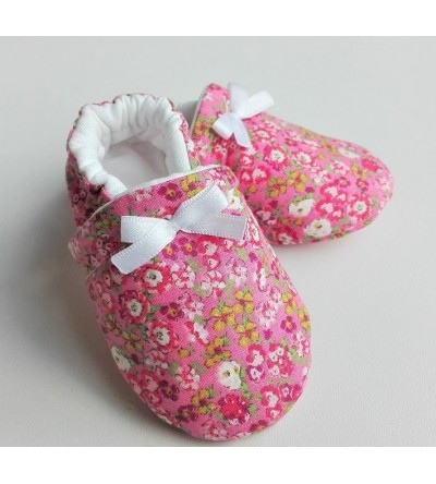 "Chaussons ""Lily fraise"""