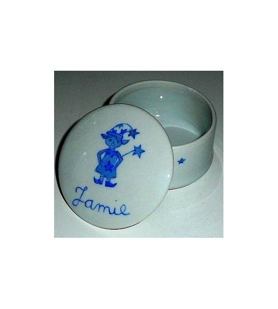 """Boîte en porcelaine """"Petit Lutin"""" - Personnalisable"""