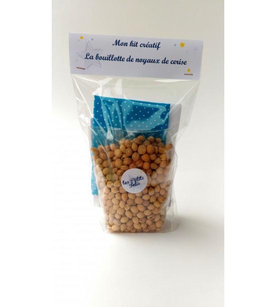 """Kit Bouillotte DIY - """"Bleu à pois"""""""